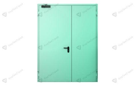 Двупольная дверь с доводчиком