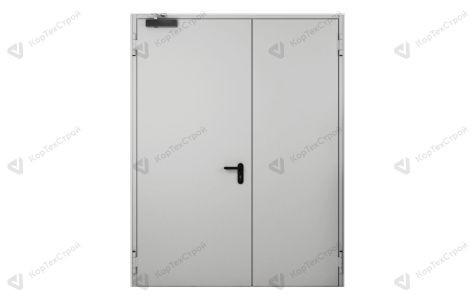 Дверь двупольная с доводчиком