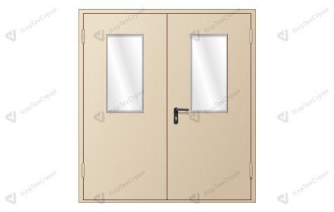 Двупольная дверь с остеклением