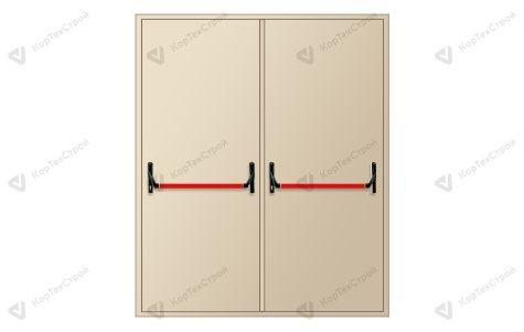 Двупольная противопожарная дверь с антипаникой