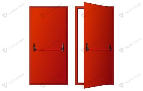 Однопольная дверь с антипаникой