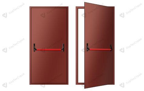 Однопольная дверь с антипаникой RAL 8017