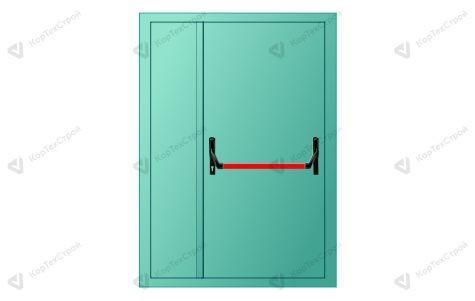 Полуторапольная противопожарная дверь с антипаникой