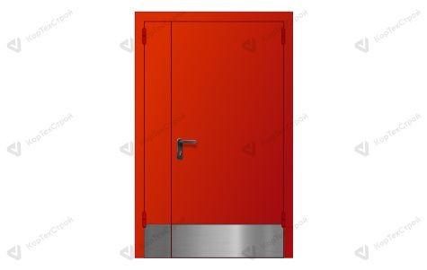 Полуторная дверь с отбойником