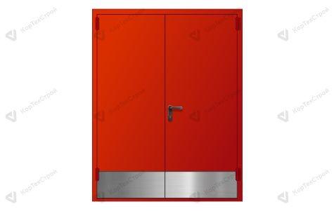 Двупольная дверь EI -60 с отбойником
