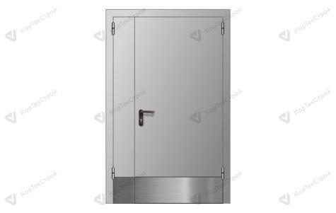 Полуторная дверь с отбойником EI-60