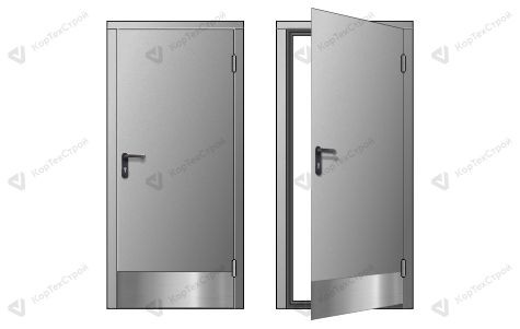 Искронедающая однопольная дверь с отбойником