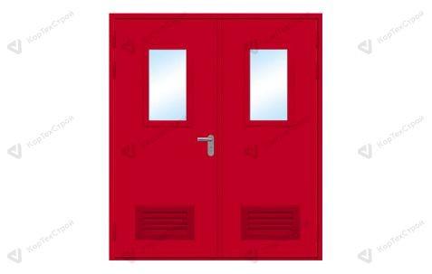 Дверь со стеклом и вентрешеткой EIS-60