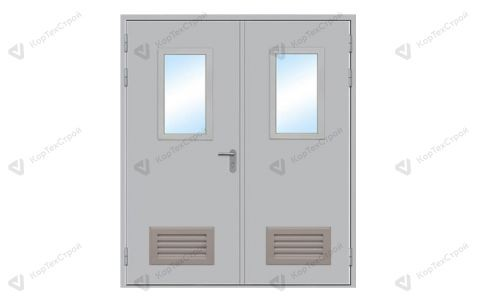 Дверь противопожарная двупольная EIS-60