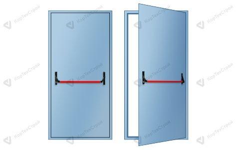 Однопольная дверь EIS-60 с антипаникой
