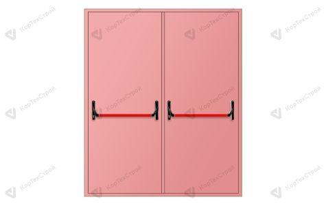 Дымогазонепроницаемая двупольная дверь с антипаникой
