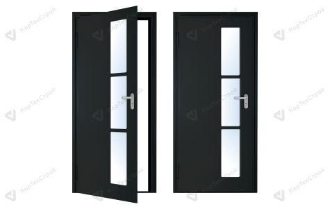 Дверь с оригинальным дизайном EIS-60 черная